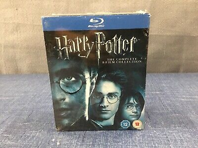 Harry Potter The Complete 8-Film Collection Set (Blu Ray 11-Disc) Region Free