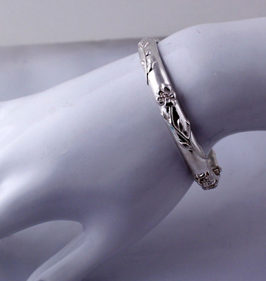 Tiffany & Co. Nature Rose Bangle Bracelet Sterling Silver RARE Vintage