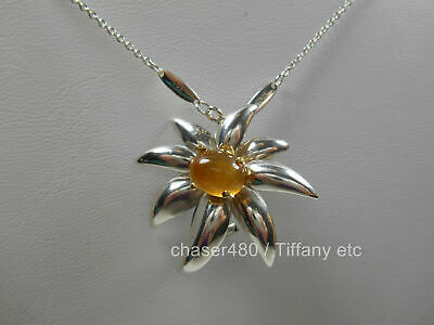 Tiffany & Co Large Citrine Fireworks Necklace Sterling Silver RARE