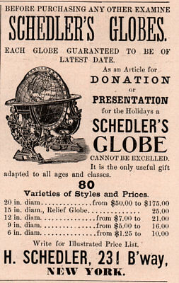 1888 A Ad Schedlers Globes