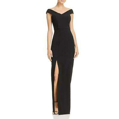 Bariano Womens Off-The-Shoulder Sheath Formal Evening Dress Gown BHFO 1805
