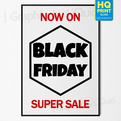 Black Friday Sale Now On Christmas Sale Sign Business Poster #1 | A4 A3 A2 A1 |