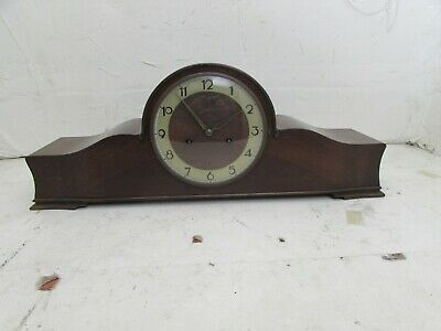 Large Vintage Junghans Napoleon Hat Style Clock, 3 Rod double strike