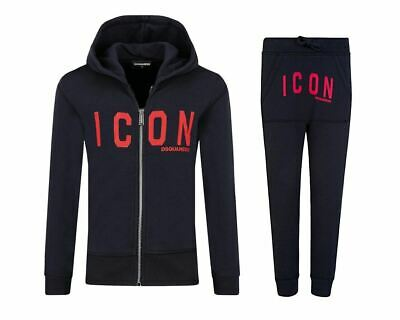 Dsquared2 Junior's D2S319U Icon Hooded Tracksuit Blue