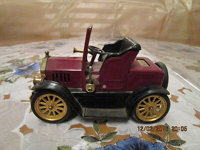 Blechauto Oldtimer 1917  Ford Coupe T Cabrio mit Feuerzeug Made in Japan L:17cm
