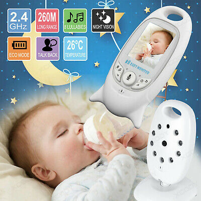"2"" Baby Monitor 2.4GHz Color LCD Wireless 2 Way Audio Night Vision Digital Video"