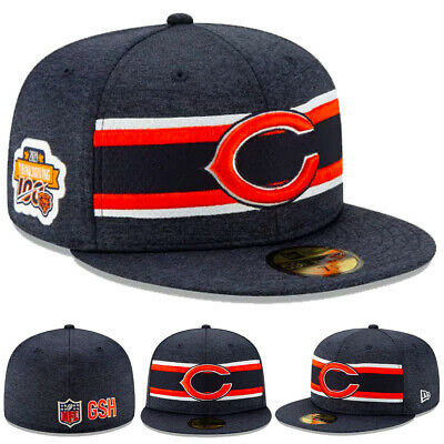 NEW 2019 Chicago Bears New Era Hat Cap 59FIFTY Fitted Thanksgiving Patch 100 NWT
