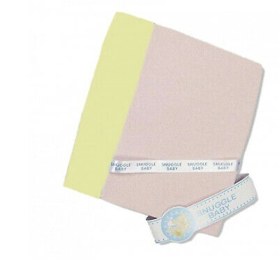 Brand New Snuggle Baby Cotton Fitted Cot Sheet Pink Or Yellow