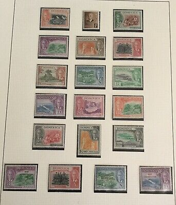 British Commonwealth, Dominica 1951 KGVI part set (cat £50) MH