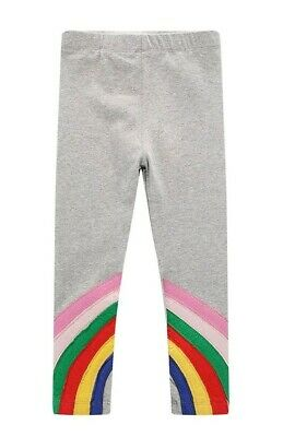 BNWT Grey Rainbow Pink Red Yellow Blue Leggings Trousers 6-7 Years Post Next Day