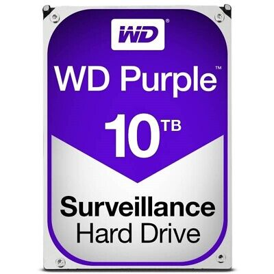 "Western Digital WD Purple 10TB 3.5"" SATA Internal CCTV Hard Drive HDD 5400RPM"