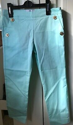 Young Versace girl's torquoise trousers 8 years old BNWT