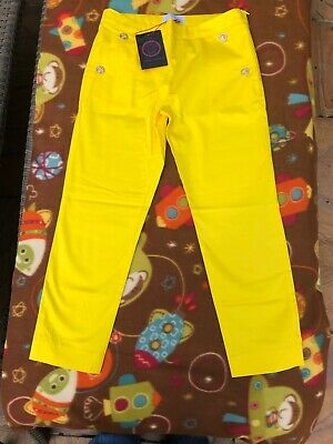 Young Versace girl's yellow trousers 10 years old BNWT