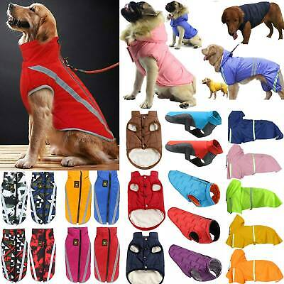 Pet Dog Coat Cloth Waterproof Padded Jacket Warm Fleece Raincoats Winter Winter