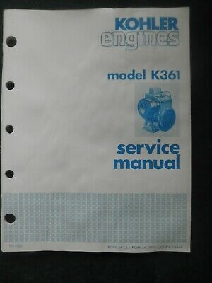 Kohler Engine Service Manual Model K361
