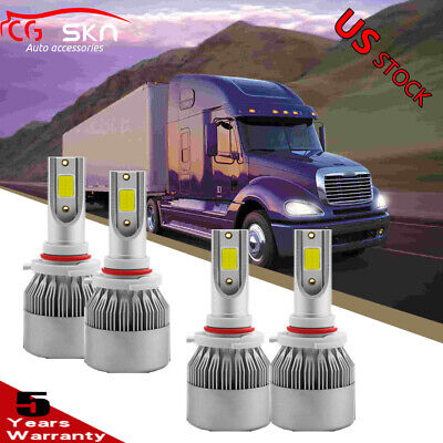 2pc LED Headlight Bulb Conversion Kit For Freightliner Columbia 96-2013 LOW BEAM
