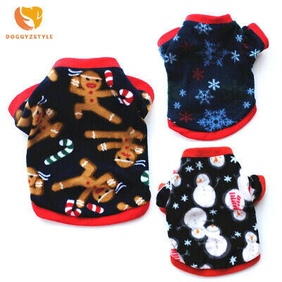 Christmas Dog Clothes Winter Warm Pet Dog Jacket Coat Puppy Clothing Hoodies For