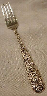 "S Kirk & Son Sterling Silver Fork  Repousse Pattern 7 1/4"" 51.45g"