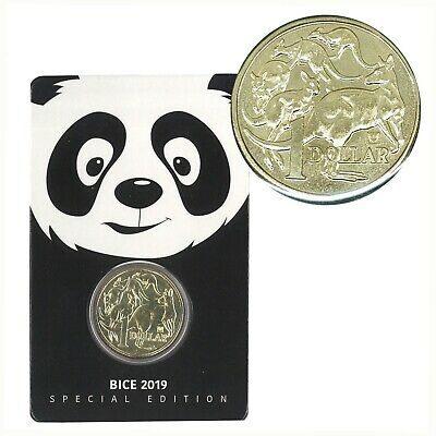 Australia 2019 BICE Beijing Coin Expo $1 Dollar UNC Coin Panda Privy Mark Carded
