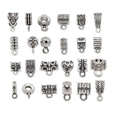 Pendant Clasp Connector DIY Jewelry necklace 20Pcs Clip Bail Beads