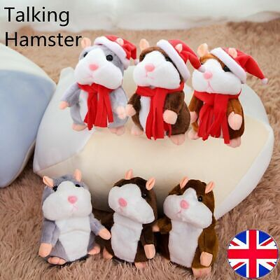 Cute Talking Hamster Nodding Sound Record Chat Electric Plush Toy Xmas Gift kid