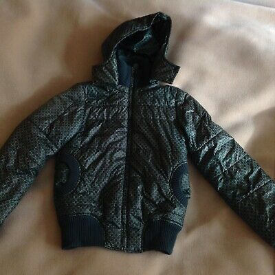 girls winter jacket sieze S with hood nice and warm green
