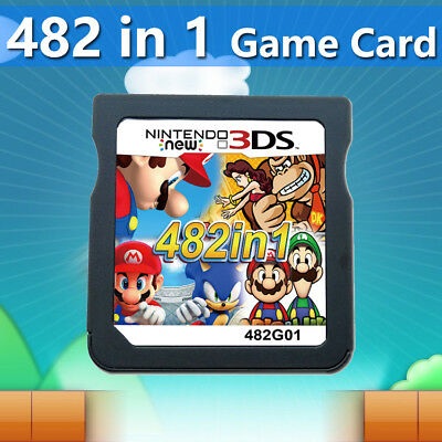 482 in 1 Game Cartridge Mario Multicart for Nintendo NDSL DSi 3DS 2DS LL XL