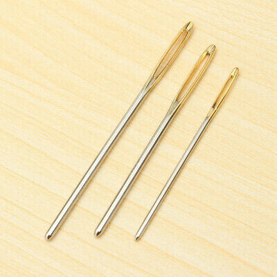 3Pcs Large Eye Blunt Darning Sewing Needles Wool Thick Hand Knitter for Yarn