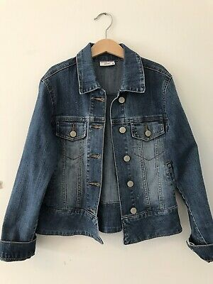 Girls Denim Rose Jacket Size 10 Target Mary Kate And Ashley
