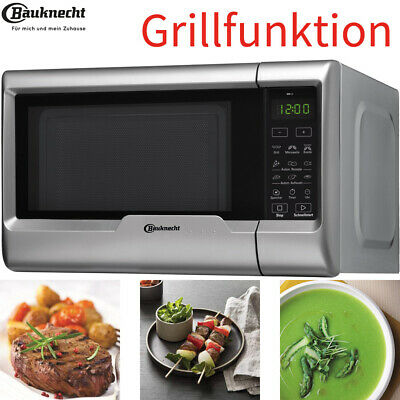 Bauknecht 2in1 Mikrowelle mit Grillfunktion Microwave Microwelle 20L 700W silber
