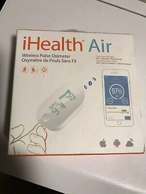 iHealth Air Wireless Fingertip Pulse Oximeter - Android & Apple iOS Compatible