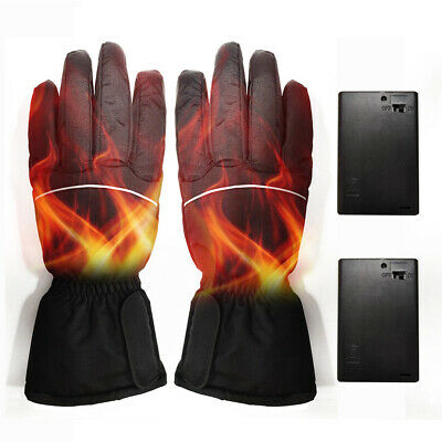 2x Mens Heated Gloves Battery Electric Winter Outdoor Motorbike Motorcycle Warm