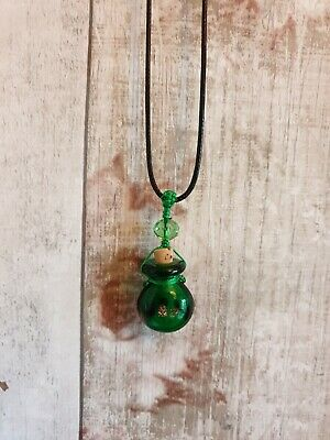 magic potion bottle green necklace liquid luck hermione witch wizard pagan