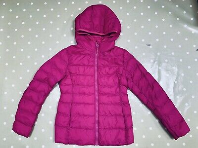 Uniqlo Girls Bright Pink Padded Quilted Puffer Jacket Coat. Age 9-10. Immaculate