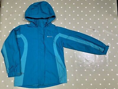 Mountain Warehouse Girls Teal & Turquoise Waterproof Jacket Coat. Age 9-10