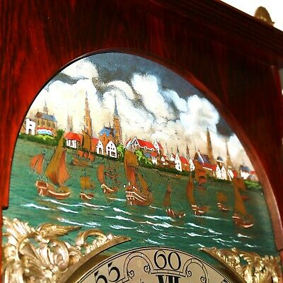 CHRISTIAAN HUYGENS Vintage Mantel Clock 27.4 Inch! UNIQUE! WESTMINSTER Moonphase