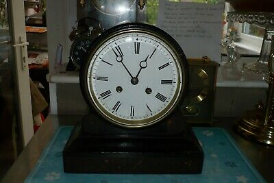 Antique French Balloon Mantle Clock ,By Lb,Bell Chiming
