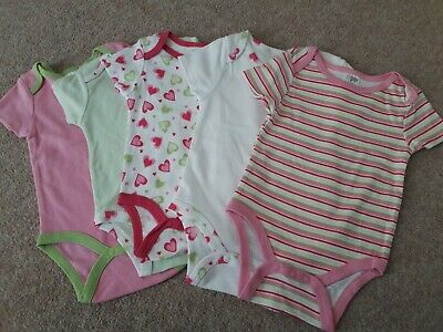 Baby girl vests 0-3 (pack of 5)