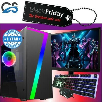 Fast Gaming PC Computer Bundle Intel Quad Core i5 16GB 1TB 2GB GT710 Win10