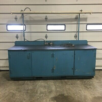 "96""x30"" Work Table Welding Shop Bench Tool Chest W/ Drawers & Vise LOCAL PICKUP"