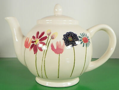 Rae Dunn BLOOM FLOWERS Teapot with Lid by Magenta Floral