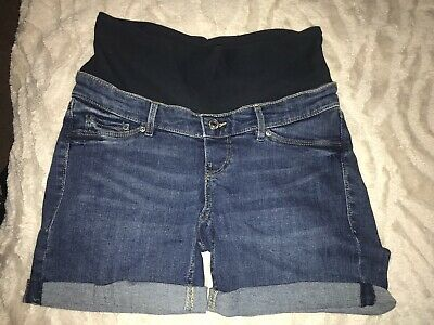H&m Mama Over The Bump Maternity Shorts Size 8