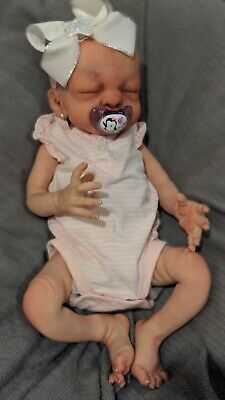 Full body Silicone baby girl doll Realistic and Handmade