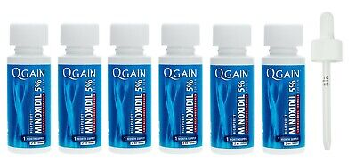 Qgain High Purity Minoxidil 5% LOW ALCOHOL for MEN 6 month supply 6 x 60mL