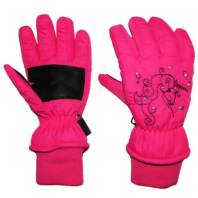 Gloves with Shaft / Knitted Cuffs - Unicorn Pink/Pink Thermo Filled