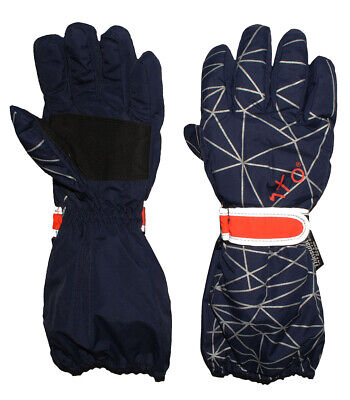 Gloves with Long Shaft - Dark Blue - Thermal Padded Thermohandsch