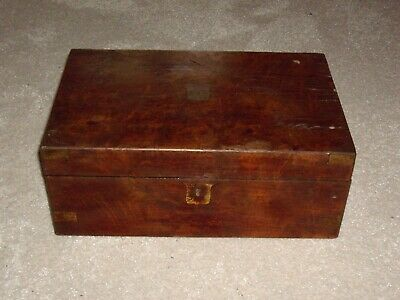 Antique Victorian / Edwardian Writing Slope Box For Restoration / Parts