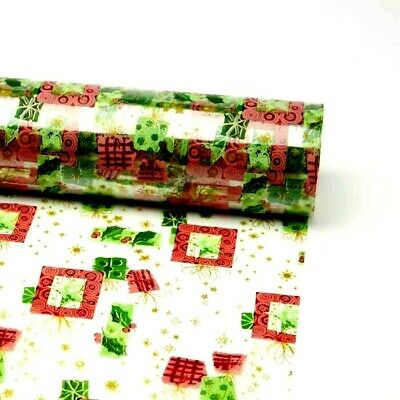 80cm Wide Clear Cellophane Christmas Film Roll Gift Wrap Acetate Celophane X-MAS