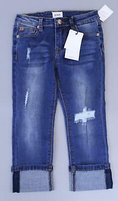 HUDSON Girl's Jeans Skinny Rolled Cuff Cropped Jeans SH3 Classic Blue Size 6X