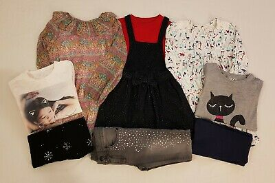 Girls Winter Clothes Bundle Jeans, Dress, Leggings Jumper, Tops  7-8 Years